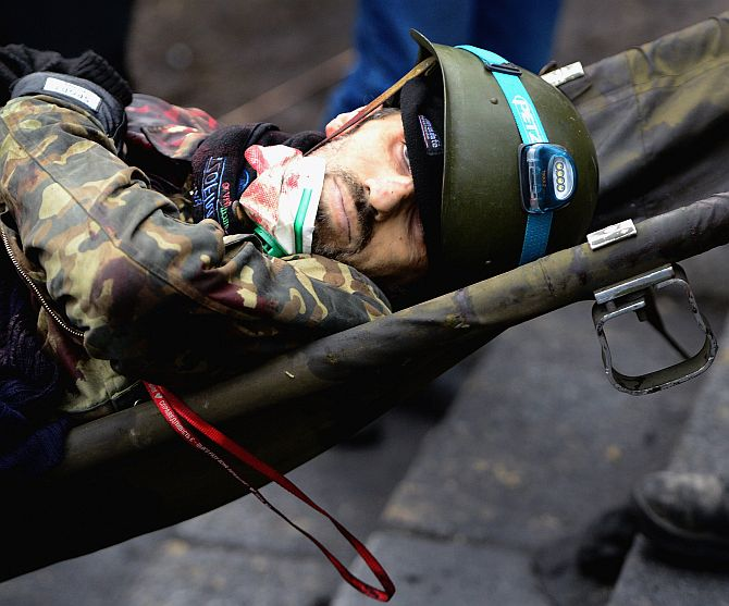 The bloody battle of Kiev Maidan