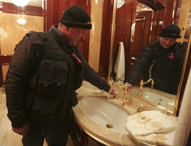 Look what they found inside Ukraine's fugitive president's estate