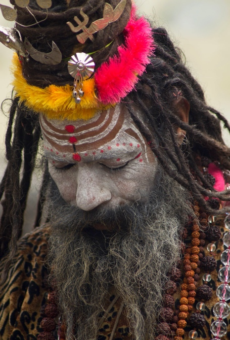 A sadhu at the Kedarnath Temple in Uttarakhand