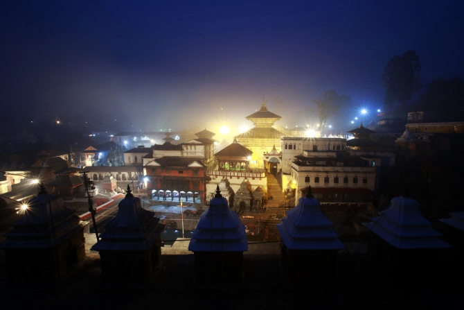 Pashupatinath Temple is pictured in this general view taken in the early morning in Kathmandu