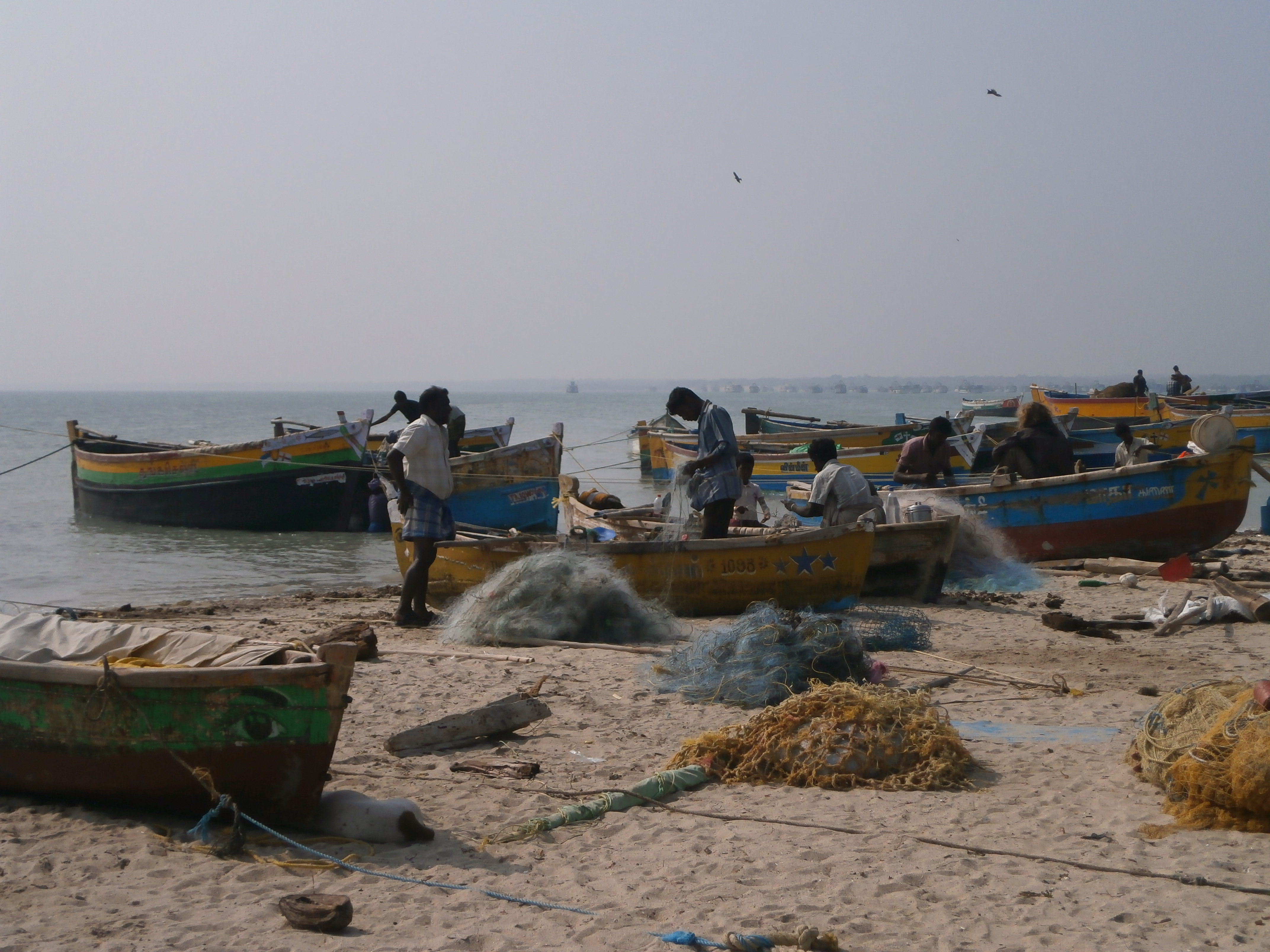 Fishing boats at Rameswaram