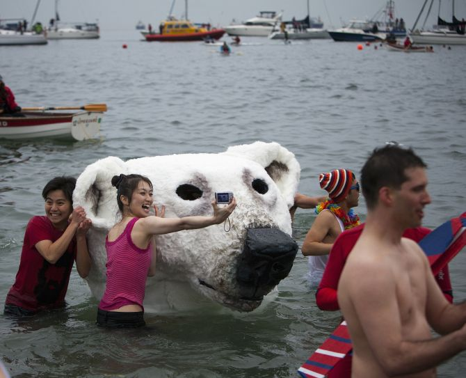IN PHOTOS: The crazy, freezing New Year dips!