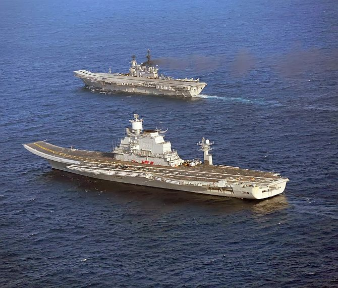 INS Vikramaditya in Indian waters