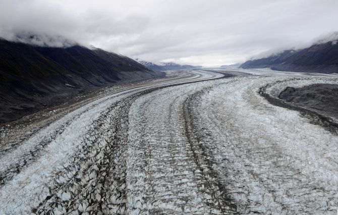 Lowell glacier in Kluane National Park near Haines Junction, Yukon