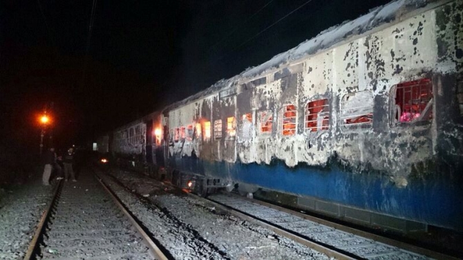Mumbai-Dehradun Express catches fire