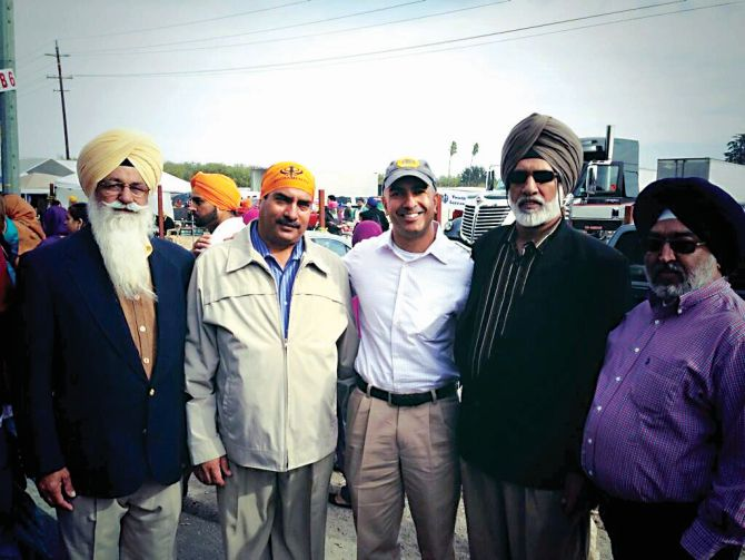 Neel Kashkari marched with over 80,000 Sikhs at the Yuba City parade in California.