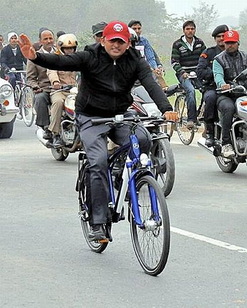 Akhilesh on his Rs 4.5 lakh Mercedes Benz bicycle