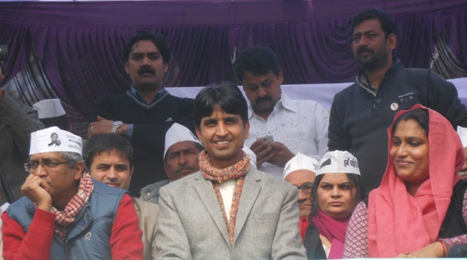 Journalist Ashutosh, Vishwas and Sonam at the rally in Amethi