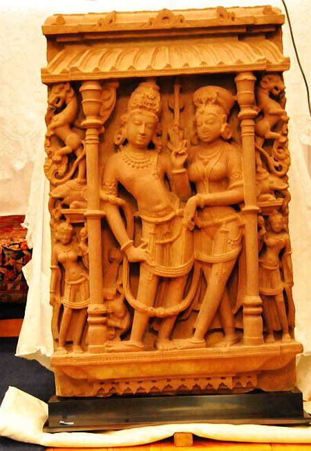 The stolen Vishnu-Lakshmi set that was first recovered.