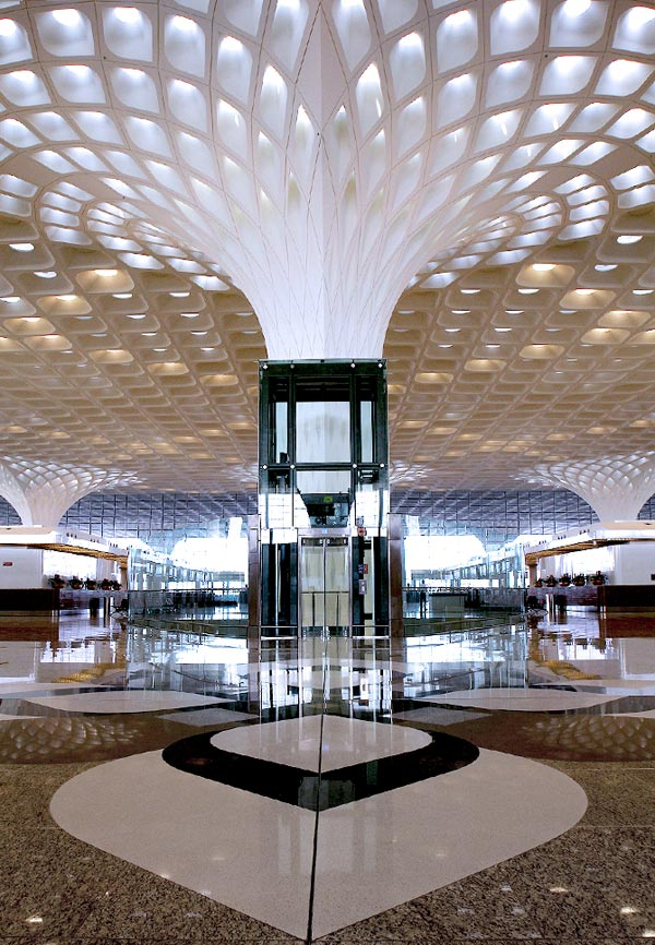 An inside view of Mumbai's T2 terminal.