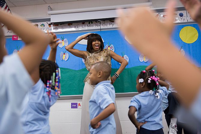 Michelle Obama, 50 and fabulous