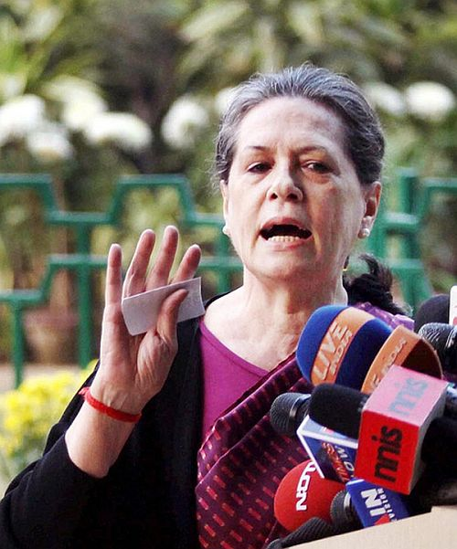 Sonia gets cold feet, Congressmen worried