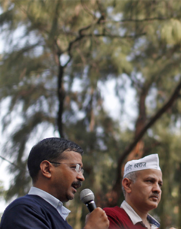 Arvind Kejriwal and Manish Sisodia