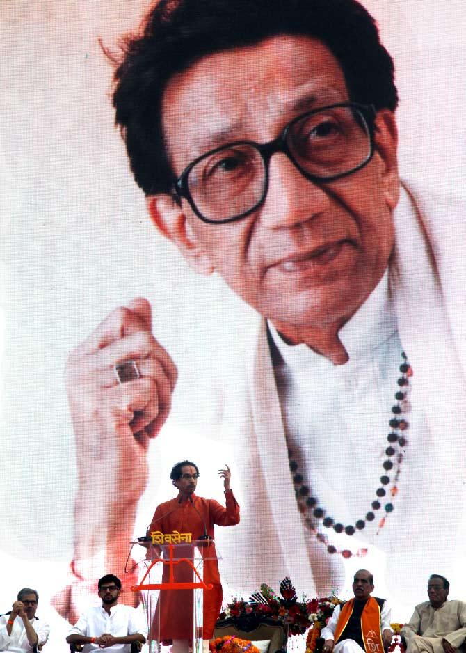 Uddhav addresses massive Shiv Sena rally