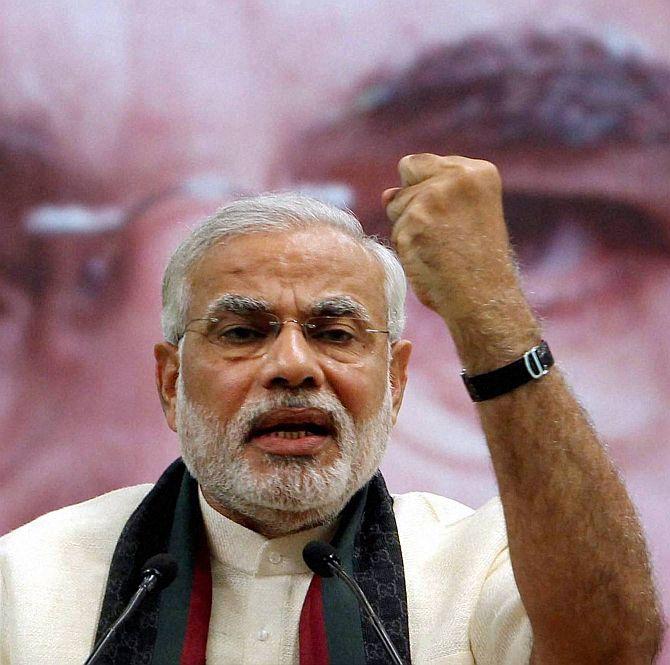 The BJP's prime ministerial candidate Narendra Modi.