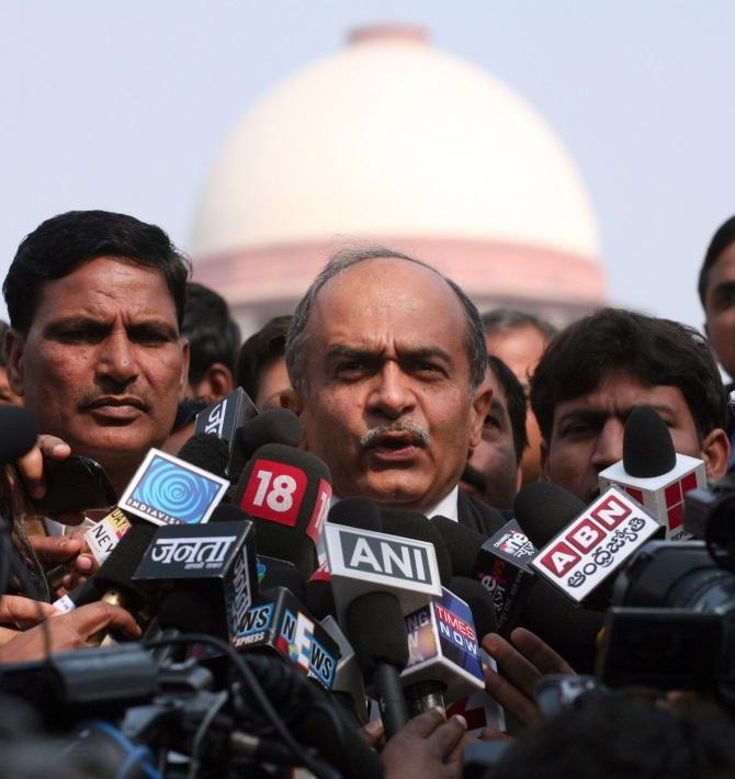 AAP's senior leader Prashant Bhushan