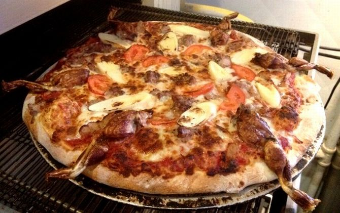 The python meat 'Everglades' pizza