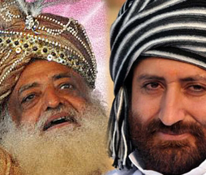 Asaram and his son Narayan Sai