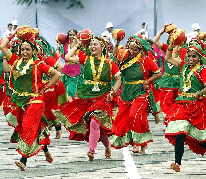 A folk dance during an Independence Day event in Chandigarh last year.