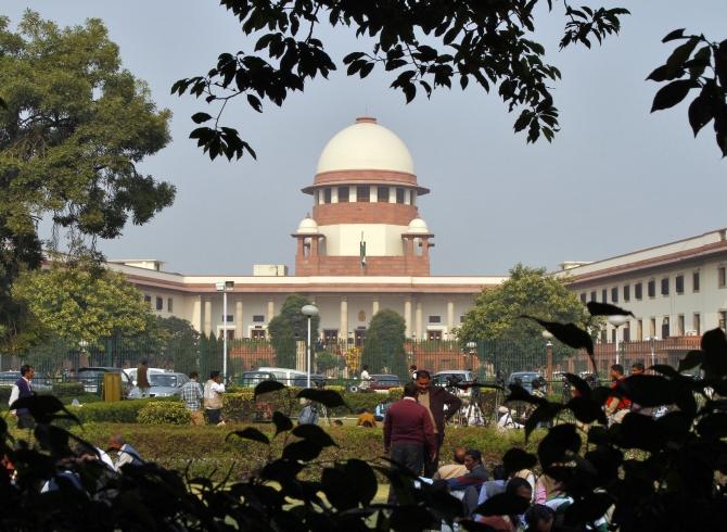 The Supreme Court building in New Delhi