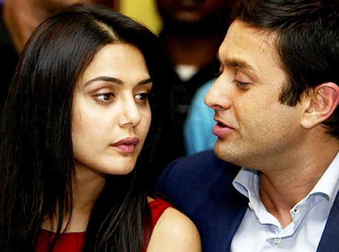 Preity Zinta with former boyfriend Ness Wadia