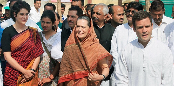 Party men are trying to persuade Congress chief Sonia Gandhi to induct Priyanka