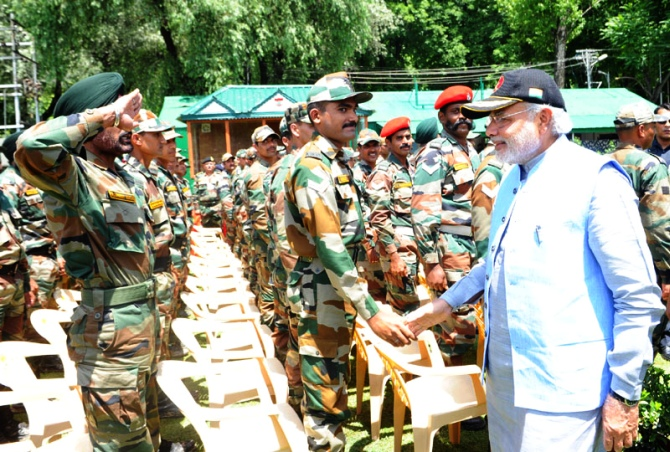 PHOTOS: On maiden visit to J-K, PM Modi honours fallen soldiers