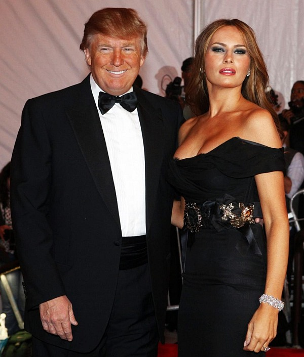 Donald Trump and his third wife Melania Knauss-Trump