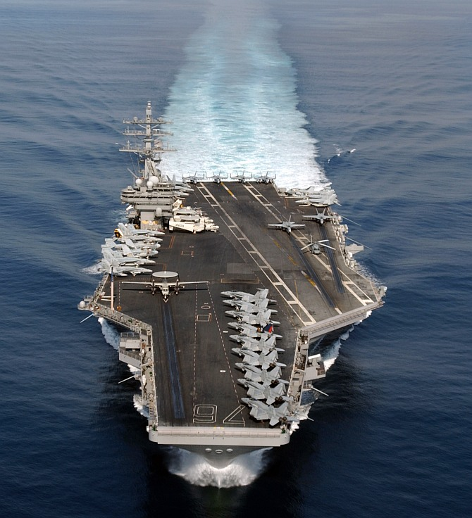 The world's 10 LARGEST aircraft carriers - Rediff.com News