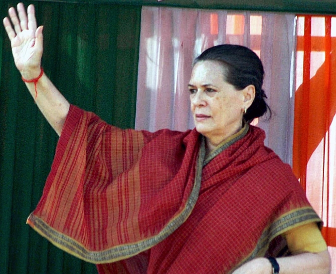Congress President Sonia Gandhi held a meeting with party MPs on the Leader of Oppostion issue on Tuesday