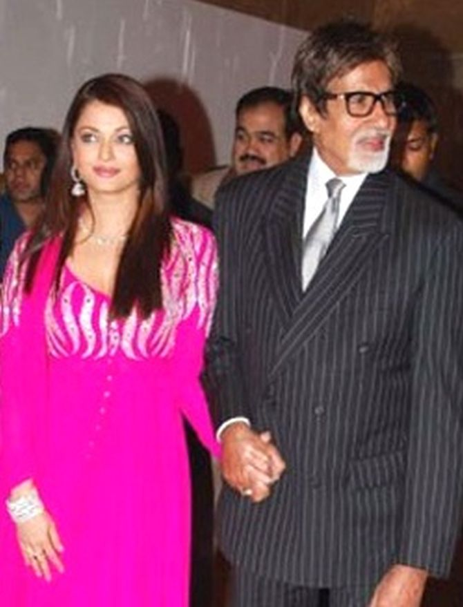 Amitabh and Aishwarya Bachchan