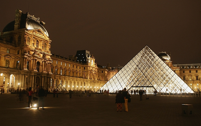 The Pyramide of the Louvre museum