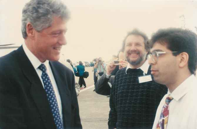 Asim Ghafoor with then US President Bill Clinton.