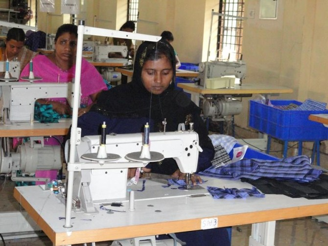 A garment manufacturing unit, run under the aegis of the Kudumbashree initiative in Thrissur.
