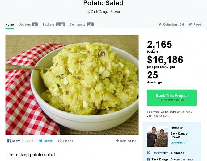 Campaign to make potato salad raises more than $50000