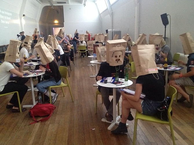 Paper bag speed-dating