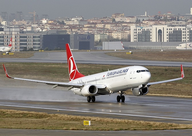 Indian Air Force investigated a Turkish Airlines plane