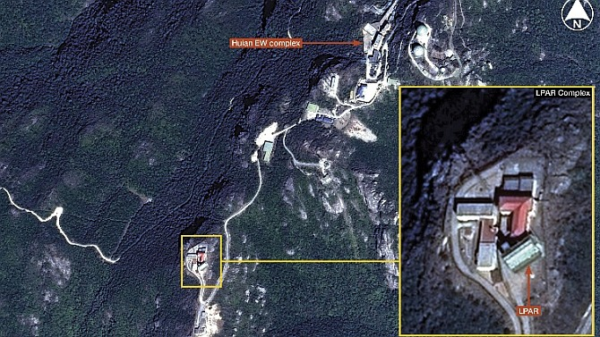 Airbus Defence and Space imagery shows an unusual large phased array radar (LPAR) deployed at the Huian Electronic Warfare (EW) complex in Fujian Province, China. The LPAR differs from other Chinese LPARs in that its array face is oriented much closer to vertical