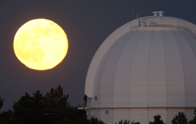 HEADS UP! Supermoon lights up the sky