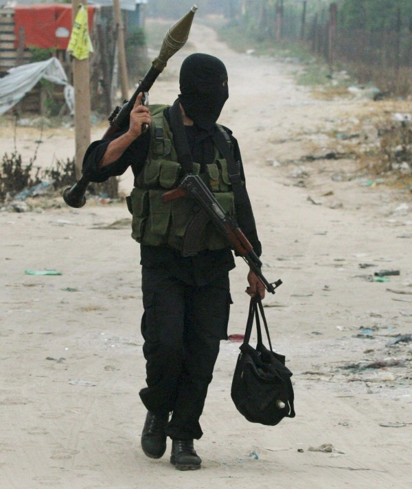 An ISIS terrorist in Fallujah, Iraq.