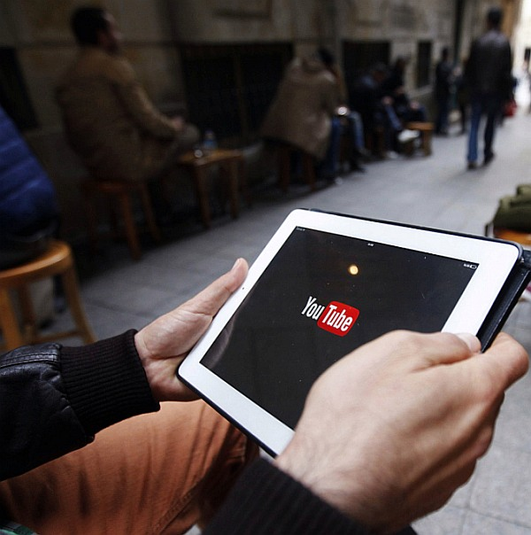 A man tries to connect to YouTube with his tablet. Photograph used only for representational purposes.