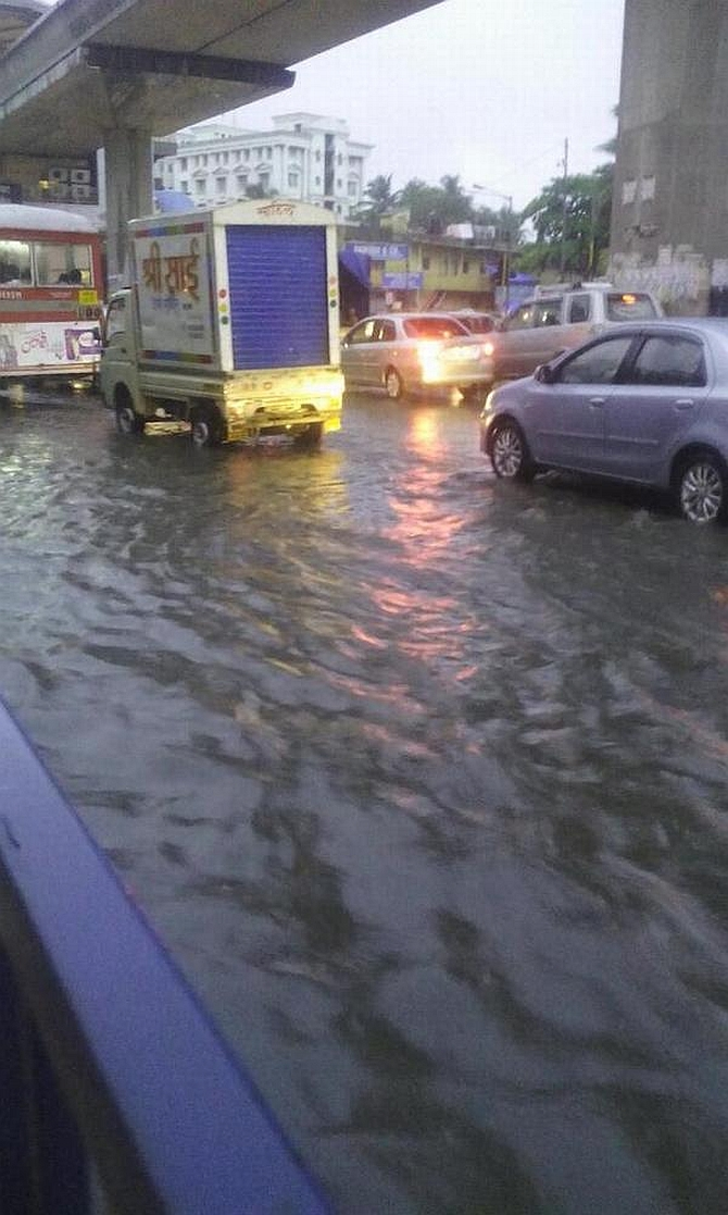 Water-logged roads near Marol, Andheri east