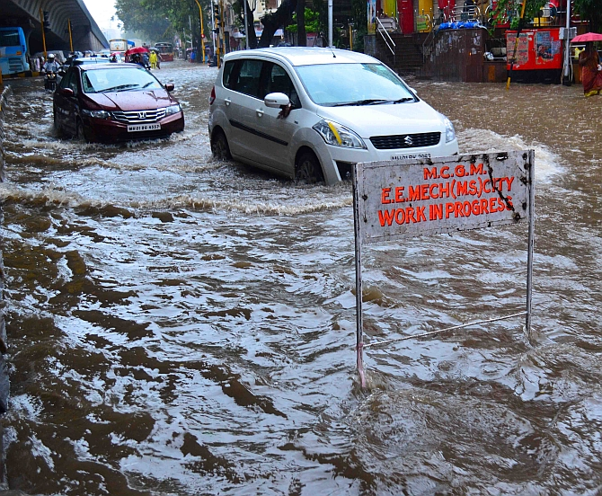 Flooding near Hindmata in central Mumbai