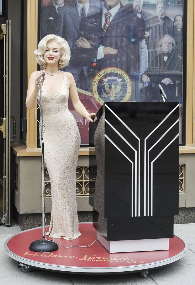 A Marilyn Monroe wax figure is unveiled at Madame Tussauds on October 30, 2013 in Washington, DC