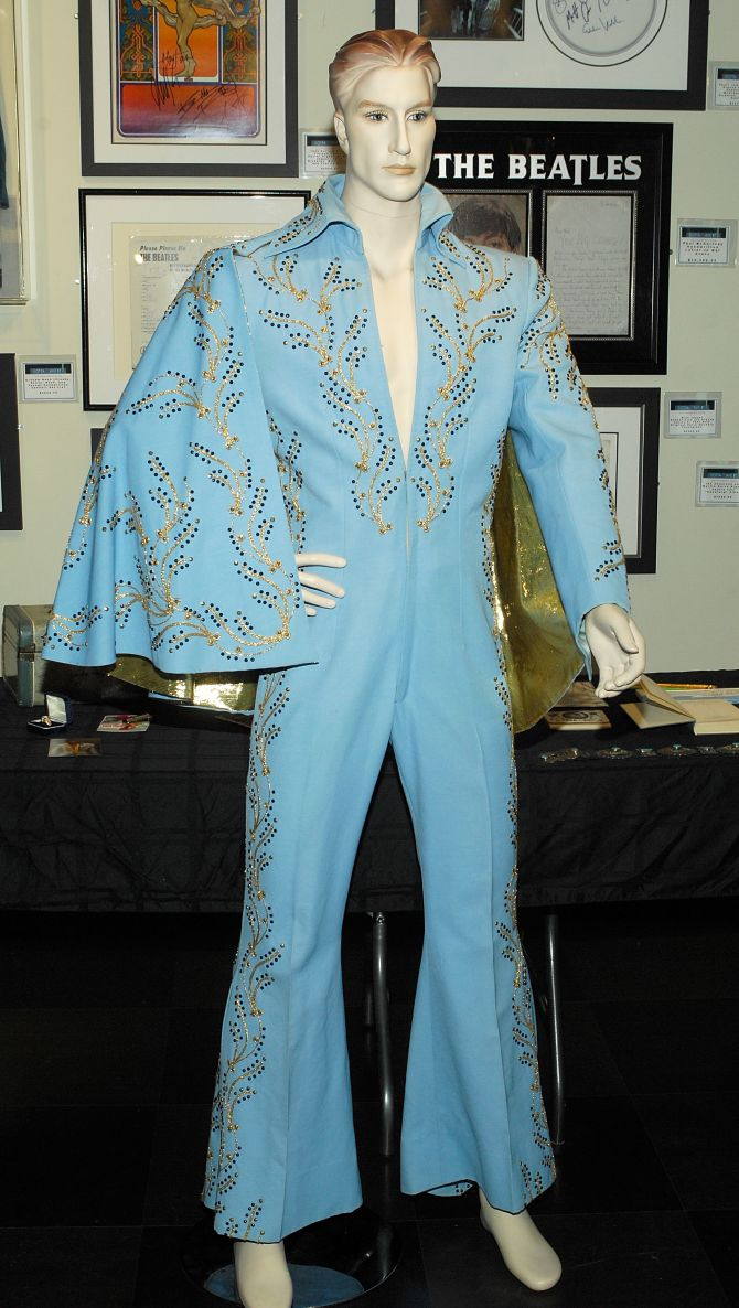 Elvis Presley's Madison Square Garden jumpsuit, offered in the online-only auction entitled 'The Elvis Presley Collection', auction at the Rock & Roll Hall of Fame Annex on March 16, 2009 in New York City.