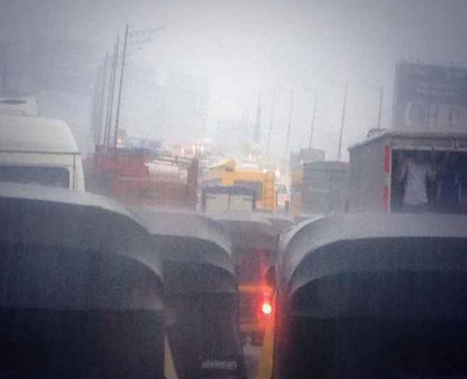 Heavy rains leave Western Express Highway chock-a-block