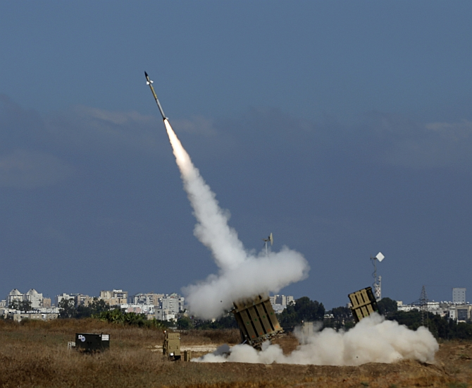 An interceptor rocket in fired the southern Israeli city of Ashdod