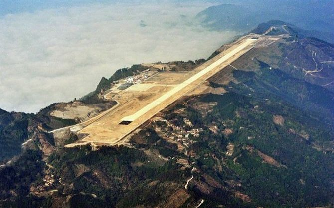 The new airport in Hechi has been built at 2,200 feet above sea level