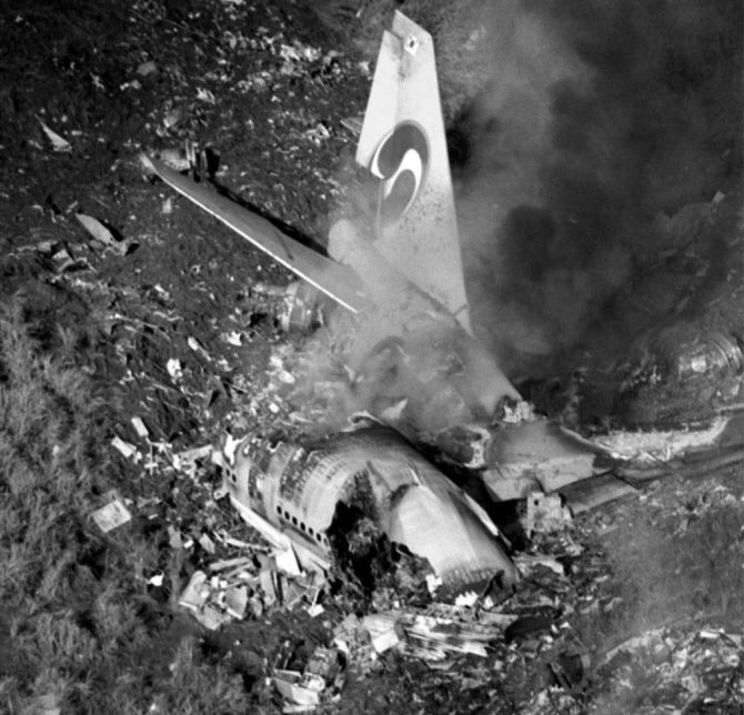KAL 007 was shot down by two Soviet fighter jets.
