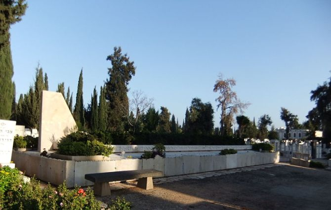A memorial set up to honour the victims of El Al flight 402 in Bulgaria